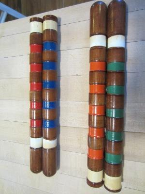 croquet stick trivet