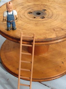 guy, ladder, vintage bobbin