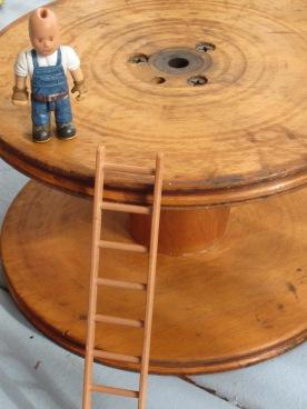 guy, ladder, vintage bobbin