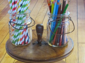 straws and pencils!