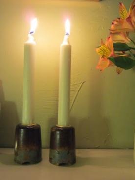 croquet mallet candlesticks