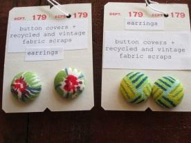vintage fabric earrings
