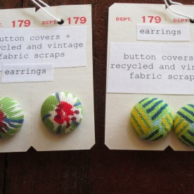 vintage fabric earrings