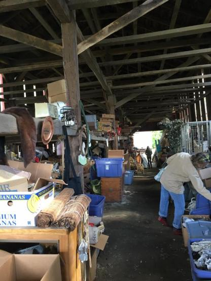 barn sale in action