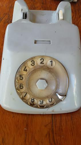 who doesn't need a powder blue vintage rotary phone?