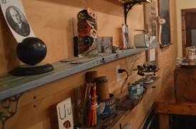 skis as shelves